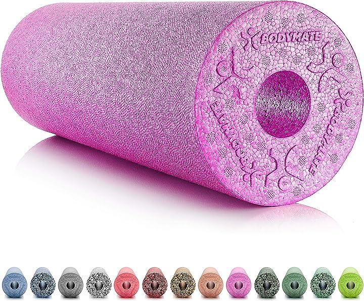 Foam roller standard medio-duro lunghezza 45 cm diametro 15 cm con ebook gratuito - vari colori 4260313268368