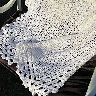 Antique White Heirloom Baby Afghan
