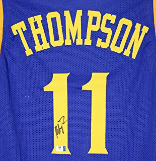 7a2a1551a9f Klay Thompson Golden State Warriors Signed Autographed Blue #11 Custom  Jersey COA