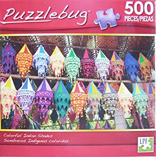 PuzzleBug 500 Piece Puzzle ~ Colorful Indian Shades