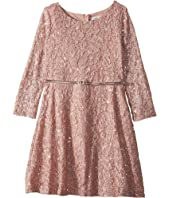 Us Angels - 3/4 Sleeve Sequin Lace Party Dress (Big Kids)
