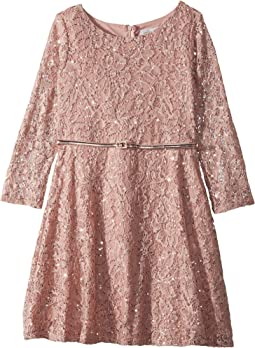Maggy London Sleeveless Baroque Lace Party Dress W Illus
