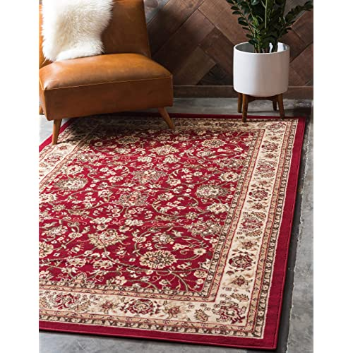 Cream And Red Area Rugs Amazon Com