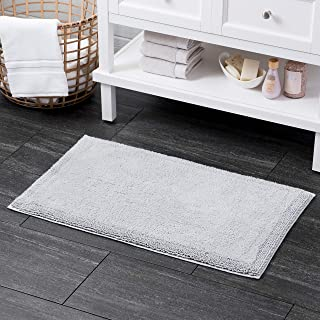 Welhome 100% Turkish Cotton Bathroom Rug - Luxurious - Soft & Thick - Non Slip Backing - Highly Absorbent - Hotel Spa Collection - 21