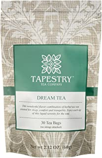 Tapestry Tea Dream Tea Chamomile Herbal Sleep Blend 17 Natural Ingredients Relaxation Lucid Sleep Aid - 30 Count