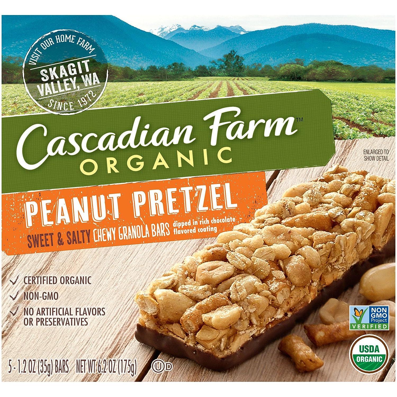 Cascadian Farm Organic Peanut Pretzel 13.25 Granola Bars 70% OFF Outlet Ounce 2021 new