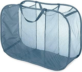 Whitmor Pop & Fold Laundry Sorter, Berry Blue