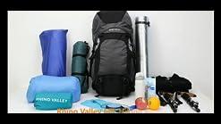 Rhino Valley Travel Backpack 60L Large Hiking Backpack Lightweight Trekking Bag