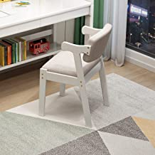 BALANBO Kids Study Chair Rubber Wood Height Adjustable Dining Chair/Office Chair/Leisure Chair(White)
