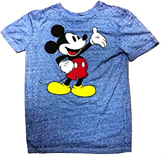 Mickey Mouse Classic Distressed Adult T-Shirt Blue