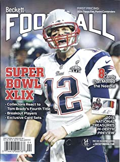 Beckett Football (Issue #291 - April 2015 - Tom Brady Cover)