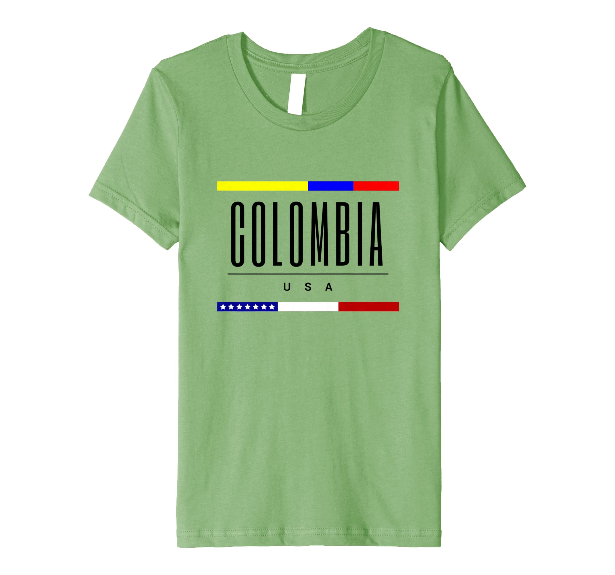 Amazon.com: Colombia USA flag friendship love born family tee gift: Clothing