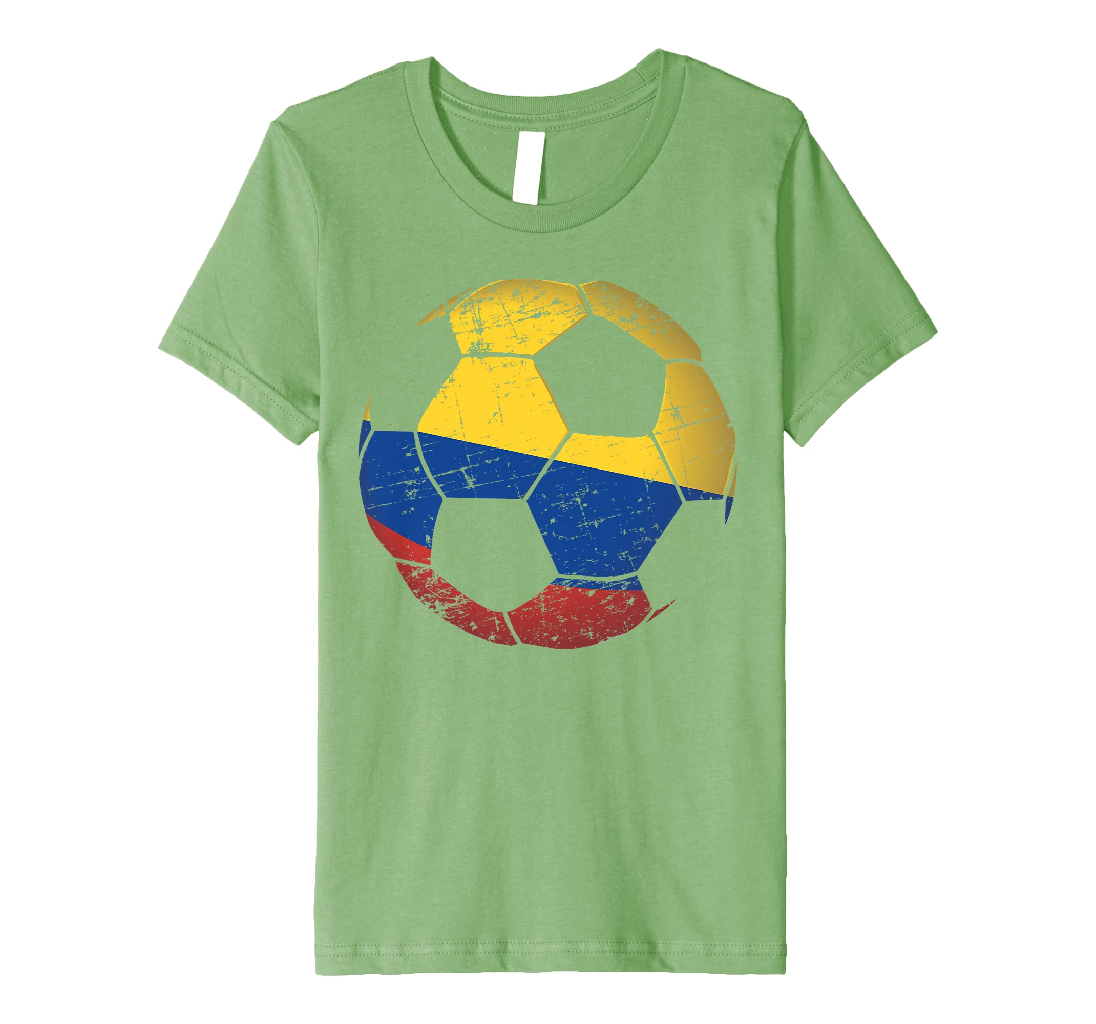 10d4aa852b8 Amazon.com  Colombia Soccer Ball Flag Jersey Shirt Colombian Football   Clothing