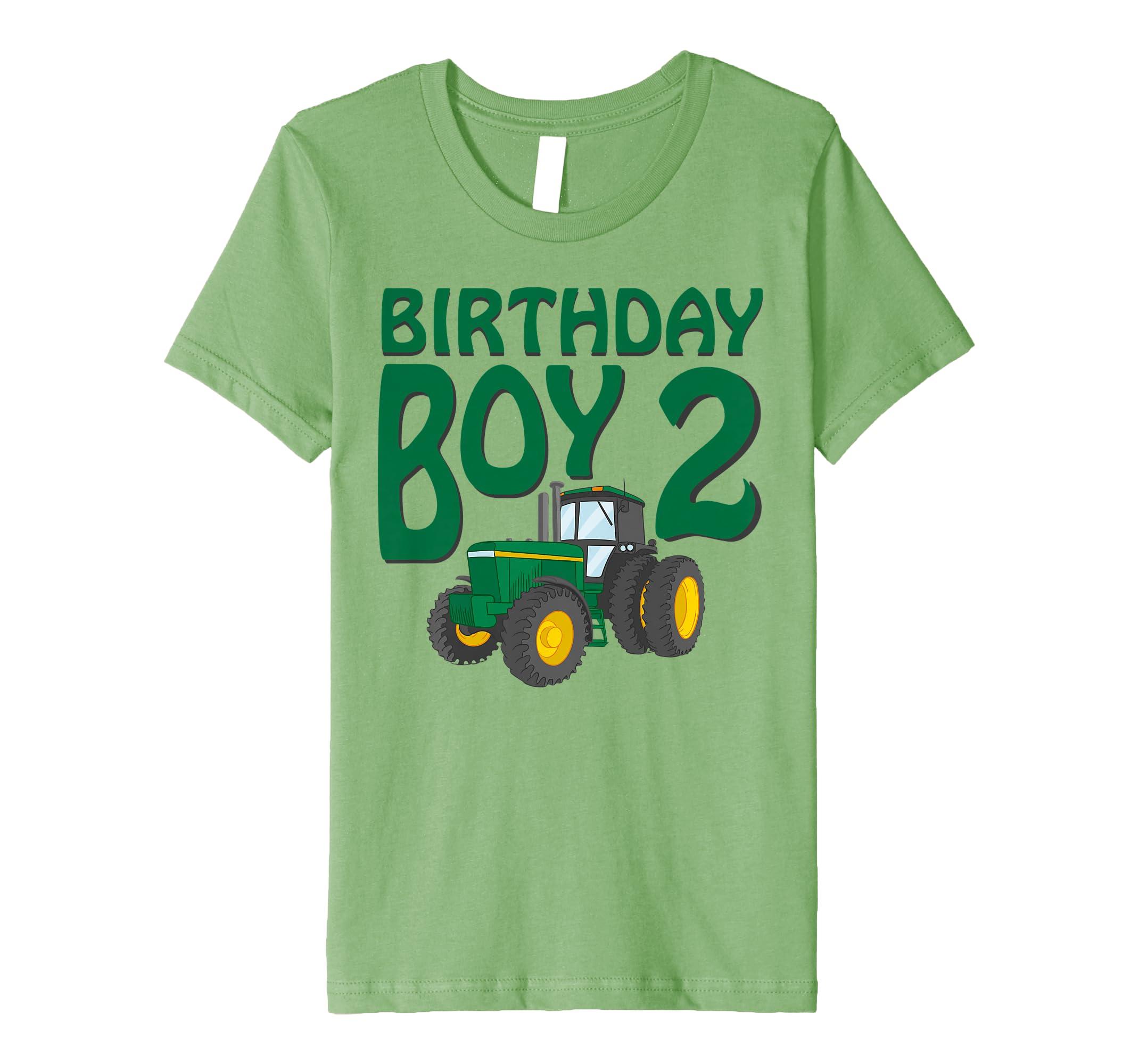 Amazon Kids 2nd Birthday Green Farm Tractor Shirt