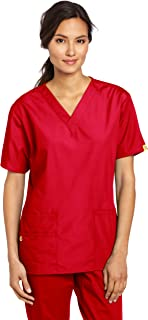 Women's Plus Size Origins Bravo V-Neck Top, Red, 3X-Large