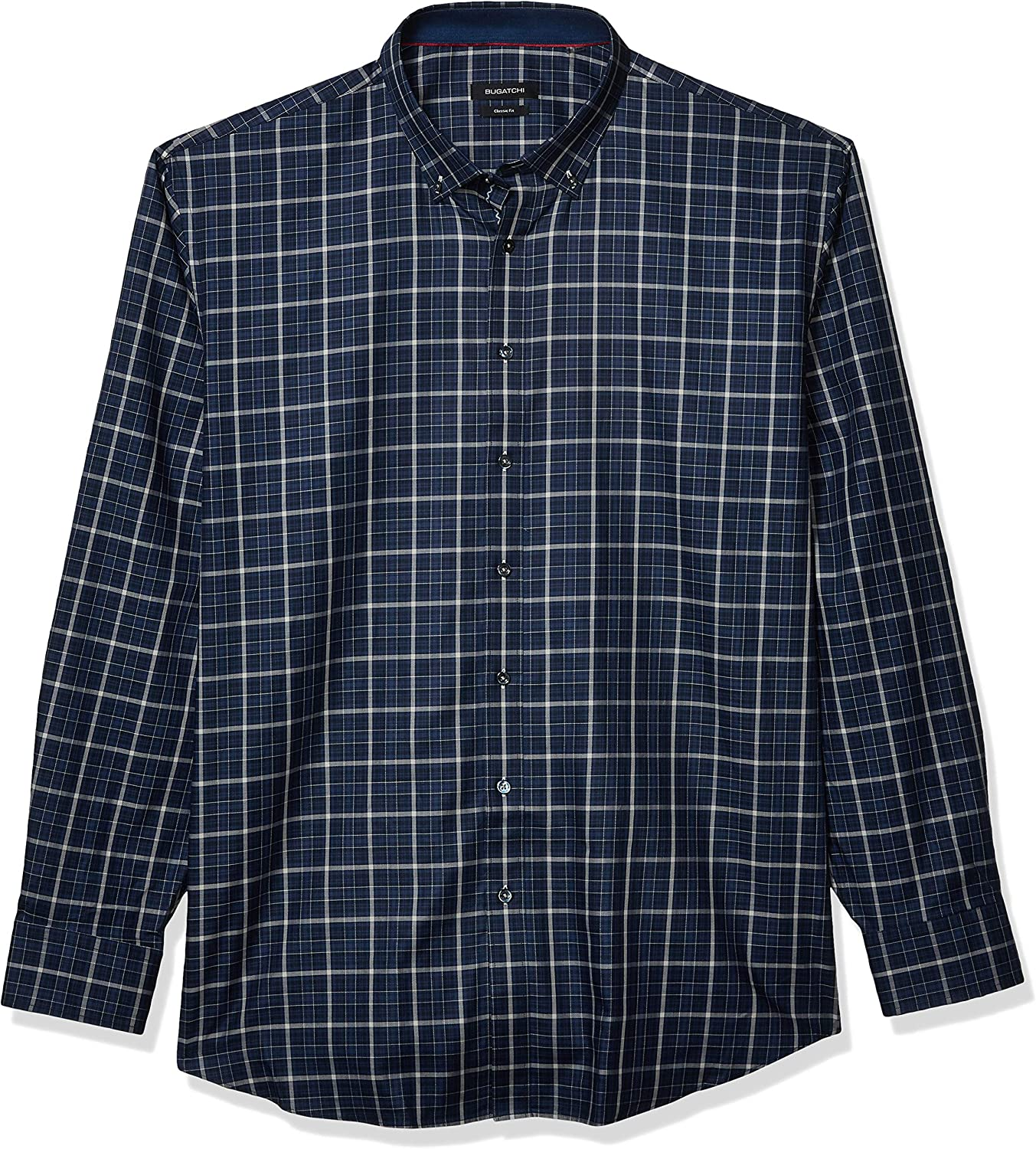Bugatchi Men's We Indianapolis Mall OFFer at cheap prices Long Sleeve Classic Fit Shirt