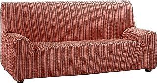 Martina Home Mejico - Funda de sofá elástica, Burdeos, 3 Plazas, 180 a 240 cm de ancho
