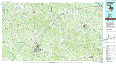 YellowMaps Nacogdoches TX topo map, 1:100000 Scale, 30 X 60 Minute, Historical, 1992, Updated 1992, 24.1 x 43.4 in