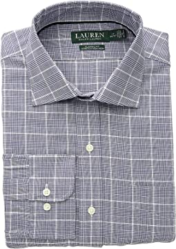 Classic Fit No-Iron Houndstooth Cotton Dress Shirt