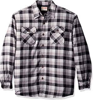 Authentics Men's Long Sleeve Quilted Lined Flannel Shirt Jacket