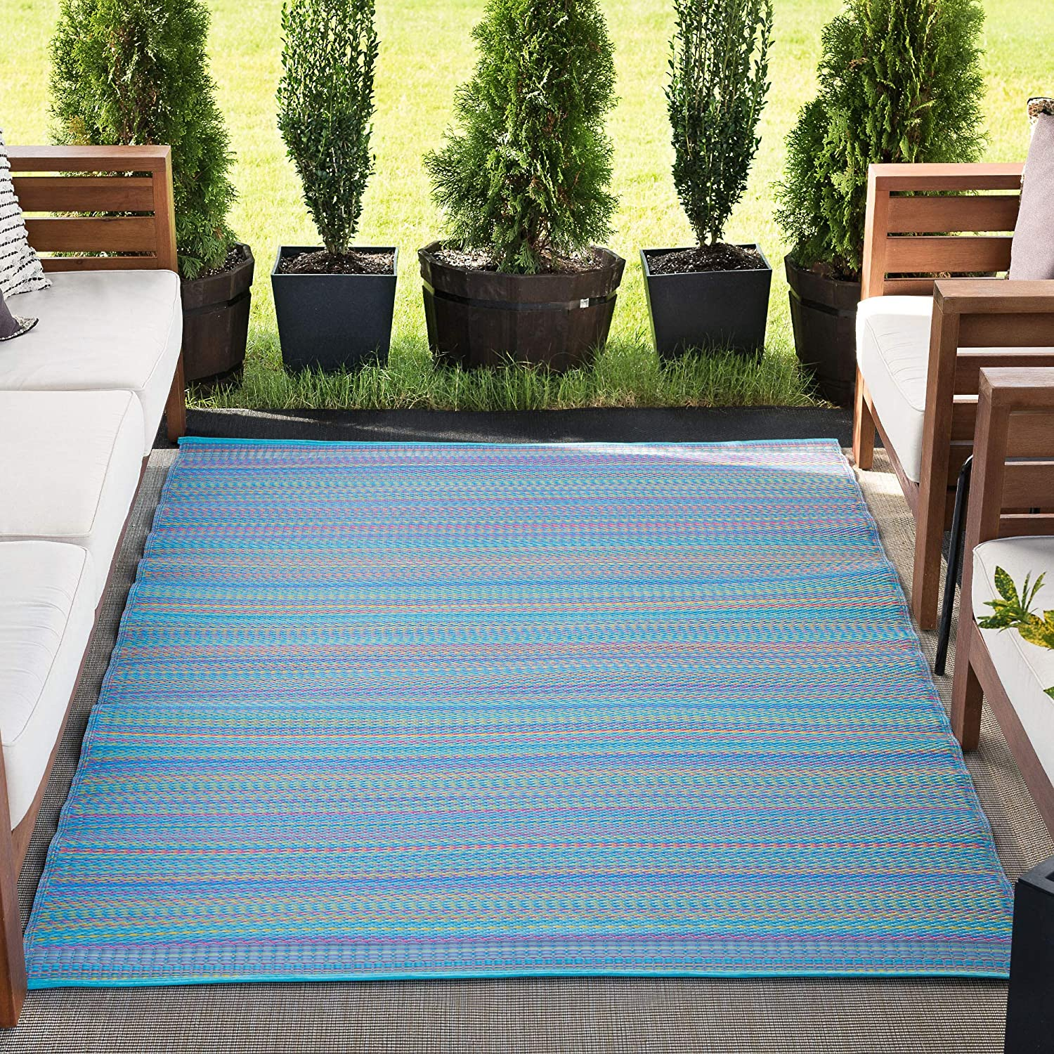 gift Pembrokepines Reversible Plastic Lowest price challenge Straw Large Rug Patio 9 Outdoor