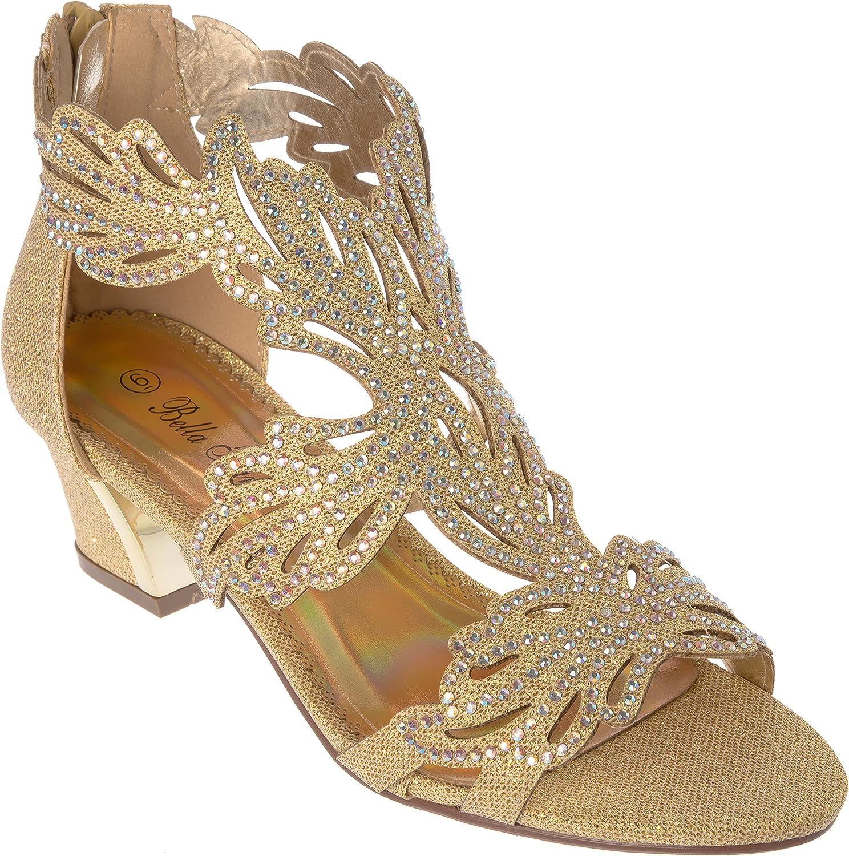 Lime03 Womens Evening Sandal Rhinestone Dress-shoes