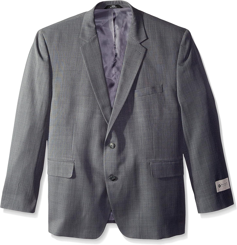 Haggar Men's Big and Tall Big & Tall Performance Stria Gabardine Classic Fit Suit Separate Coat