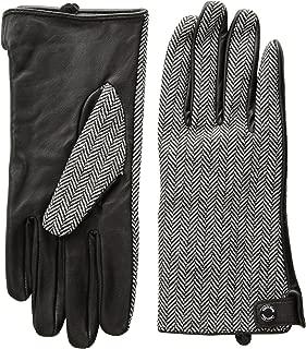 Women's Leather Palm Herringbone Glove