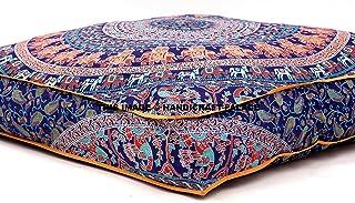 comprar comparacion Mandala India, Almohada Cuadrada para el Suelo, Funda de Cojín, Puf Otomano asiento Otomano POUFS perro/mascotas ca...