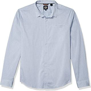 Men's Slim Collar Long Sleeve Woven Shirt