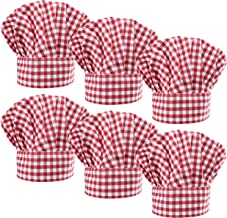 LilMents 6 Pack Chef Hat Set Elastic Baker Kitchen Catering Cooking Chefs Hats
