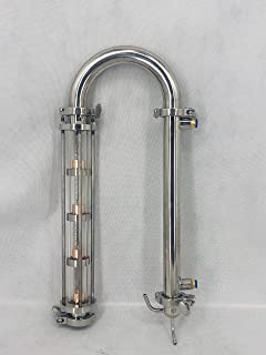 Modular Stainless Steel Moonshine Flute Still Reflux Glass Distillation Column (1.5inch)