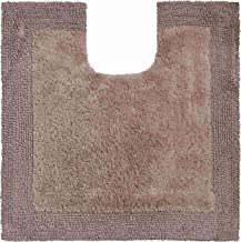 Grund Bath Rug, Ultra Soft, Absorbent and Anti Slip, Organic Cotton, Luxor, WC mat with Cut-Out 60x60 cm, Brown