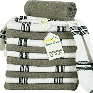 Kitchen Towel Set (12 Pack, 38x64 cm) - Cotton Dish Towels, Durable Cleaning Cloths, Highly Absorbent Durable Multipurpose...