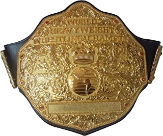 Adult Replica Big Gold Wrestling Championship Belt Title The Best Gift to your Greast Daddy