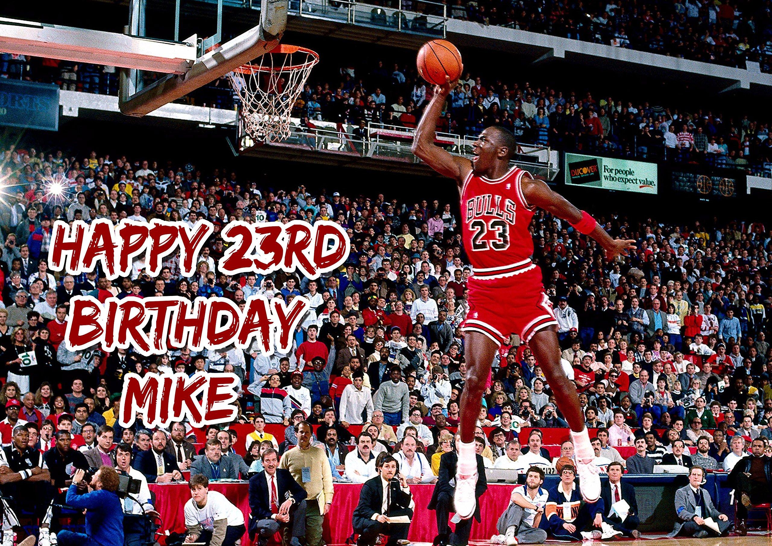 Prime Michael Jordan Chicago Bulls Birthday Cake Personalized Cake Funny Birthday Cards Online Elaedamsfinfo