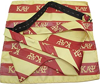 Kappa Alpha Psi Striped Mens Bow Tie & Handkerchief Set