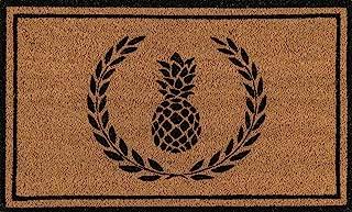 Erin Gates by Momeni Park Pineapple Black Hand Woven Natural Coir Doormat 1'6