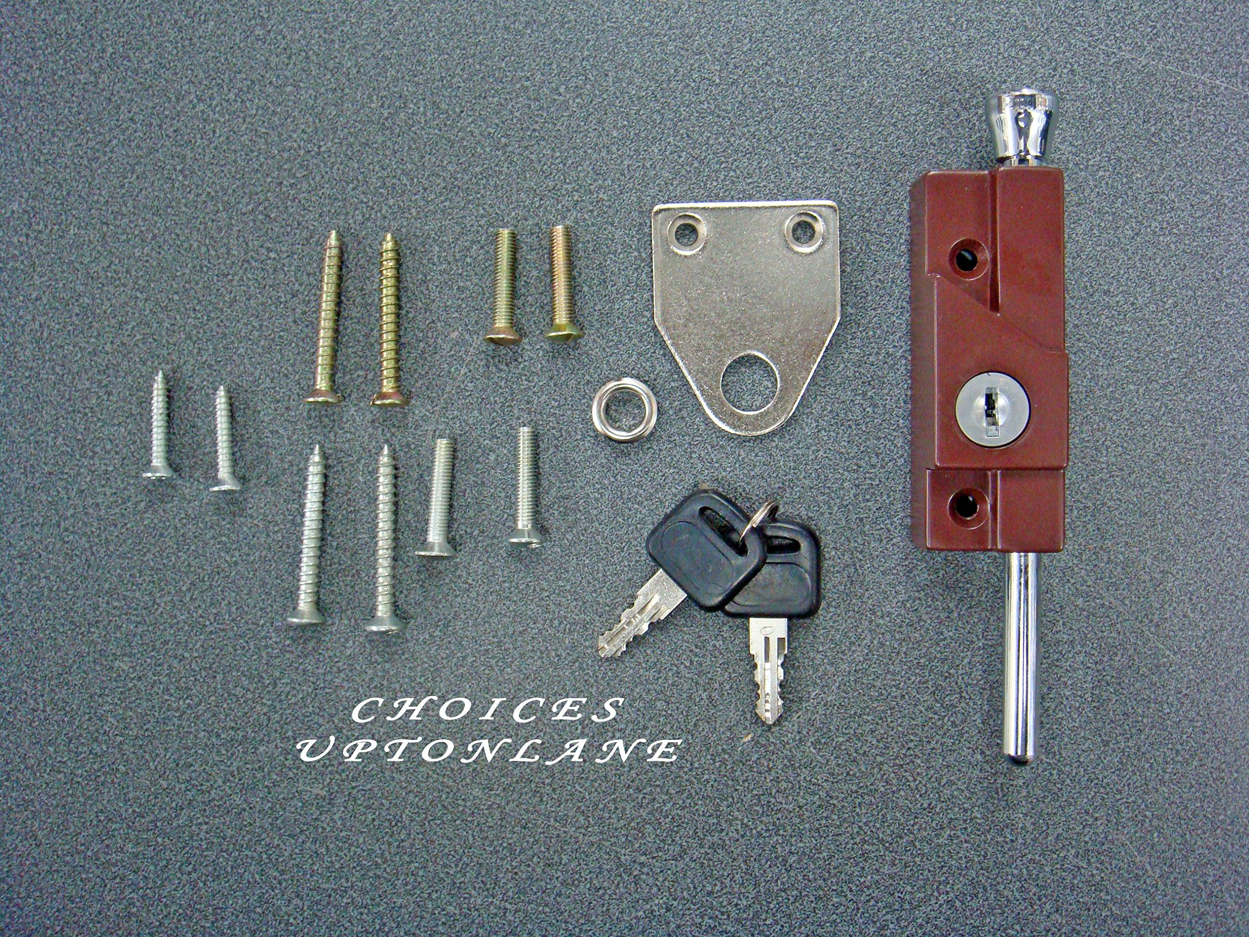 AK Multi Purpose Perno de Puerta para metal/madera y bisagras puertas correderas (Marrón): Amazon.es: Bricolaje y herramientas