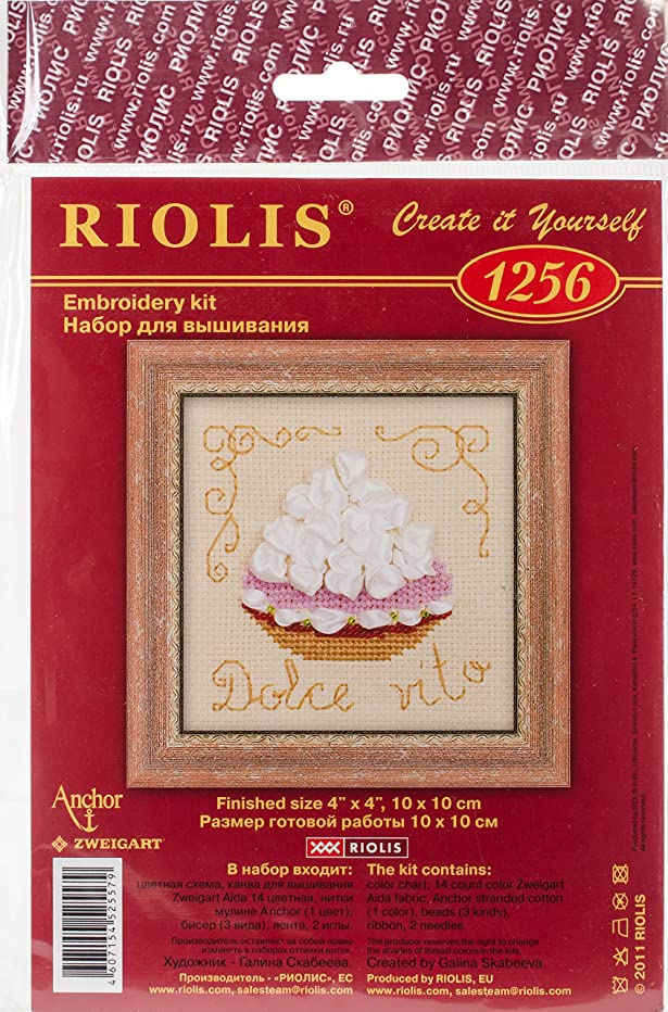 RIOLIS Cake Basket Counted Cross Stitch Kit-4