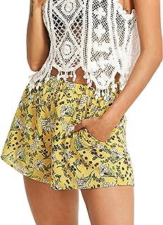 a630918a7 Floerns Women's Flower Print Hot Summer Casual Beach Pockets Shorts