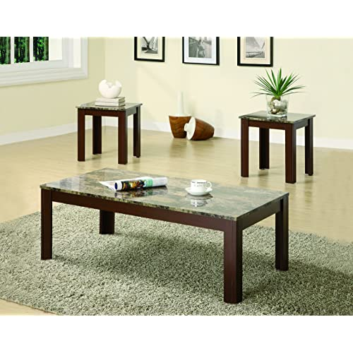 3 Piece Occasional Table Set Brown