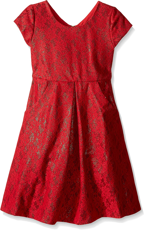 Bonnie Jean Girls' Little Bonded Lace Dress