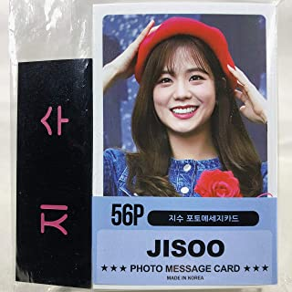 JISOO ジス - BLACKPINK ブラックピンク グッズ / フォト メッセージカード 56枚 (ミニ ポストカード 56枚) + ネームプレート (名札) セット - Photo Message Card 56pcs (Mini Post Card 56pcs) + Name Plate [TradePlace K-POP 韓国製]