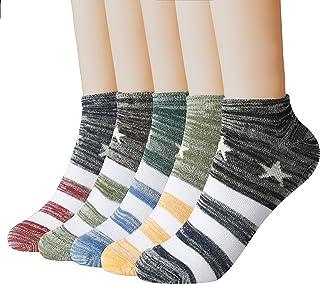 Women Fashion No Show Socks Low cut Fun Socks 5 Pairs Packs