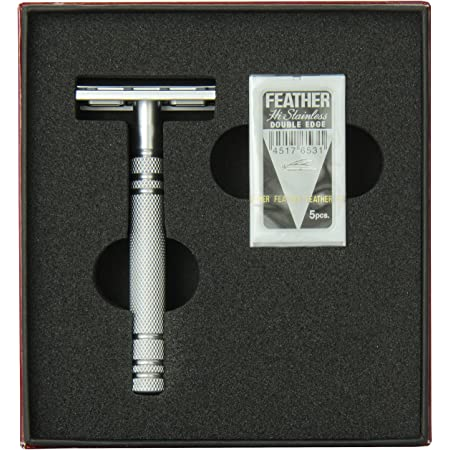 Feather Stainless Steel Double Edge Razor AS D2