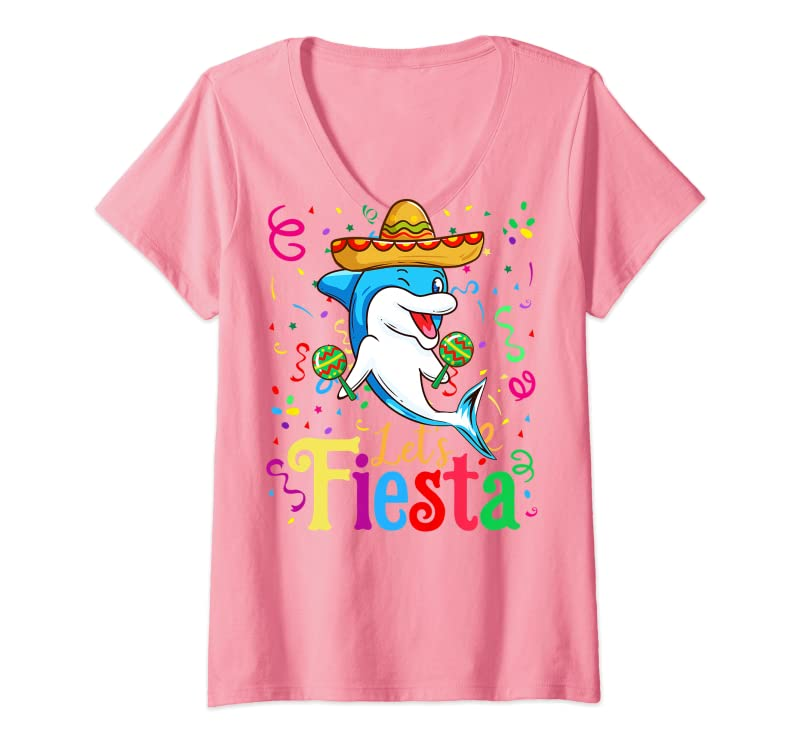 Cinco De Mayo 2020 Shirt Funny Mexican Dolphin Let's Fiesta Premium T-Shirt Trending Design Tshirt