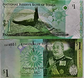novelty collections-1 currency note from tonga- Multi color