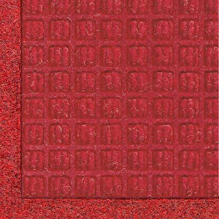 M+A Matting 280 WaterHog Fashion Polypropylene Fiber Entrance Indoor/Outdoor Floor Mat, SBR Rubber Backing, 4' Length x 3' Width, 3/8