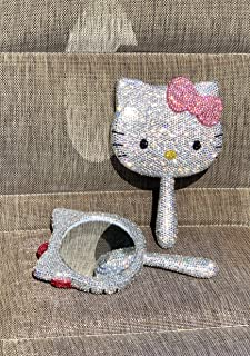 Bling Bling hello kitty compact mirror handmade with high quality crystals ^Light Pink BOW